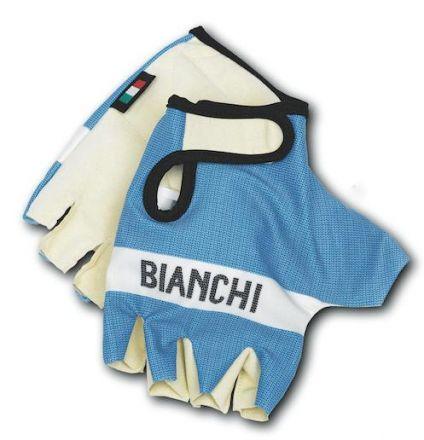 Bianchi Classic - rekawiczki na rower wyscigowy - jasno-niebieskie