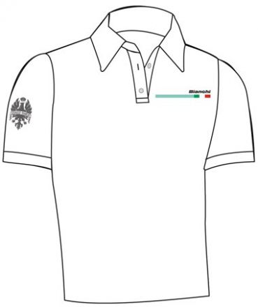 Bianchi Freizeit Männer Polo Shirt - weiß