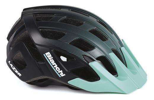 Bianchi Helm - Roller schwarz/celeste
