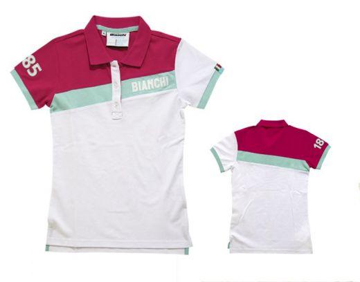 Bianchi Polo Dama CK Stripe - weiss/magenta