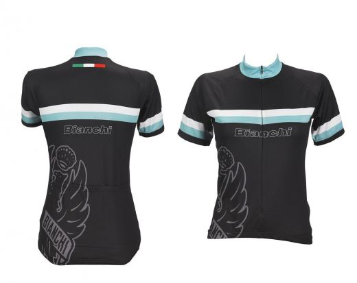 Bianchi Sport Line Lady -  Short Sleeve Lady Jersey - black