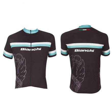 Bianchi Sport Line Man - koszula sportowa z krótkim rekawem - czarna