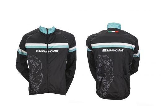 Bianchi Sport Line Man - kurtka rowerowa odporna na wiatr - czarna