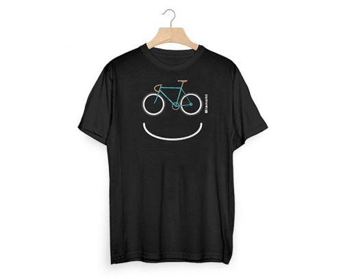 Bianchi T-Shirt Smile - schwarz