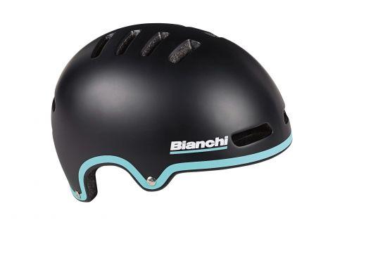 Bianchi Helm - Armor - Schwarz/celeste