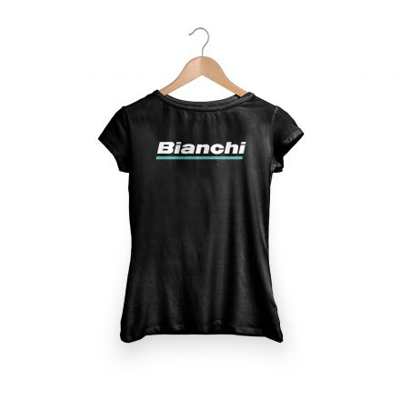 Bianchi Official T-Shirt - Lady - Black
