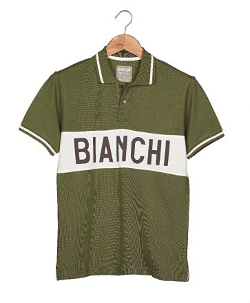 Bianchi L'EROICA Polo - Gent - Military Green