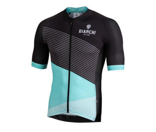 Bianchi Milano - BISCEGLIE Short Sleeve Jersey - black/celeste