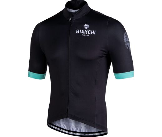 Bianchi Milano - New Laces Short sleeve Jersey - black - celeste