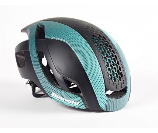 Bianchi Helmet - Bullet black/celeste