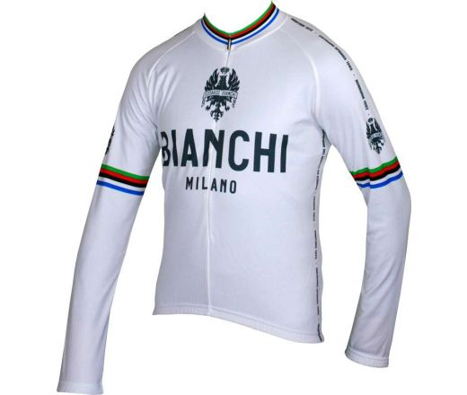 Bianchi Milano - LEGGENDA Long Sleeve Jersey - white