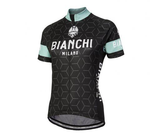 Bianchi Milano - NEVOLA Short Sleeve Jersey Lady - black/celeste
