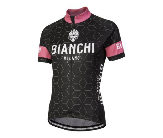 Bianchi Milano - NEVOLA Short Sleeve Jersey Lady - black/pink