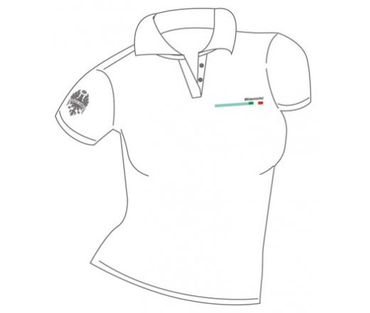 Bianchi Official Polo Shirt Lady white