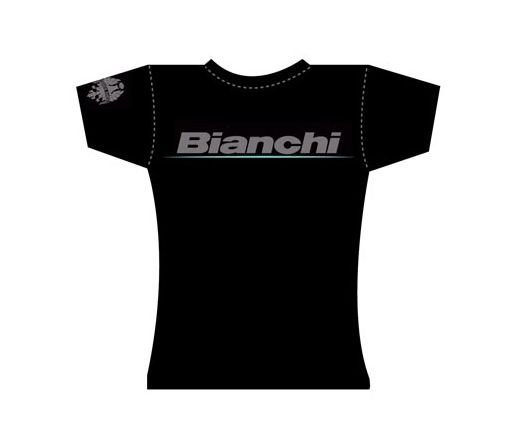 Bianchi Official T-Shirt - Lady Logo black