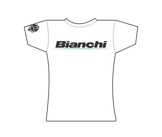 Bianchi Official T-Shirt - Lady Logo white