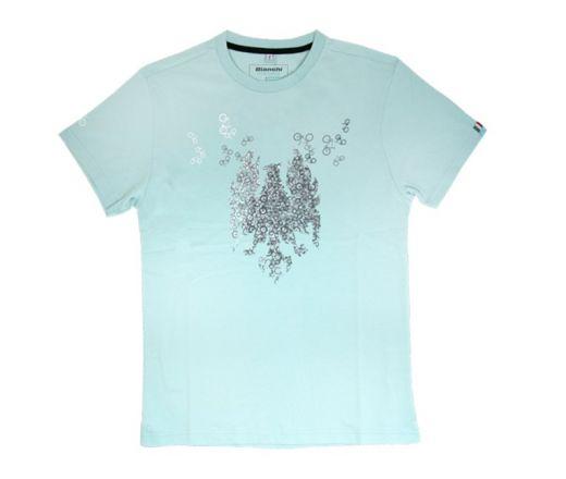 Bianchi T-Shirt Minibikes - celeste