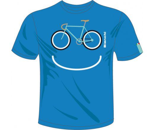 Bianchi T-Shirt Smile Blue