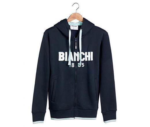 Bianchi Zip Hoodie 1885 navy-blue