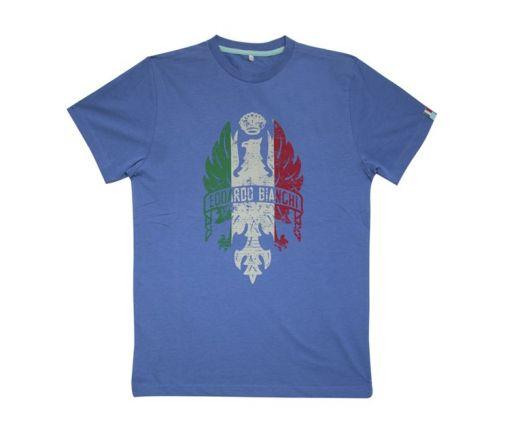 "T-Shirt ""Bianchi Eagle Italian Flag"" azzurro/melange"