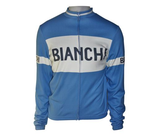 Bianchi Classic - l/s Jersey blue