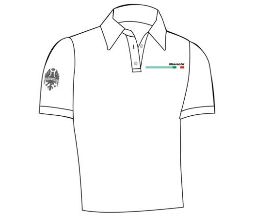 Bianchi Official Polo Shirt white