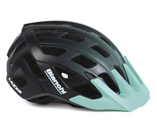 Bianchi Helmet - Roller black/celeste