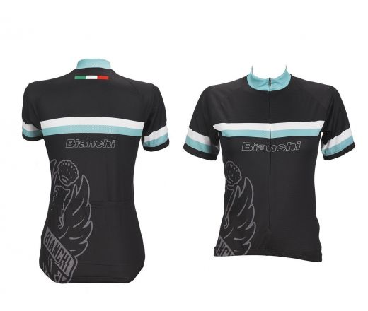 Bianchi Sport Line Lady -  Maillot Manches Courtes Lady Jersey - noir
