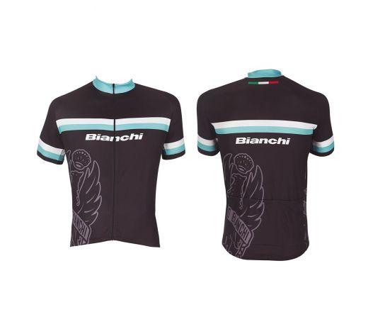Bianchi Sport Line Man - Jersey à manches courtes noir