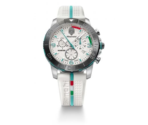 Bianchi Swiss Made - Chrono 43mm - bialy
