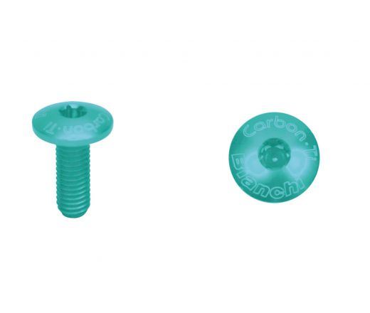 BIANCHI BOTTLE SCREW SET CARBON Ti TORX Celeste and Blue 4